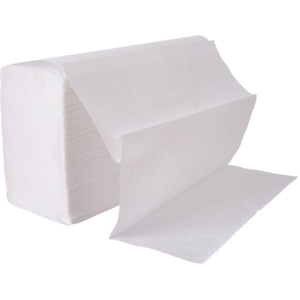 Hand Towels 2 Ply Z-Fold Virgin Pulp WHITE X 3000