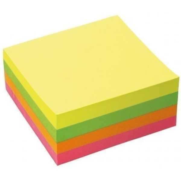Value Stick'N Neon Sticky Notes Cube 76 x 76MM X12