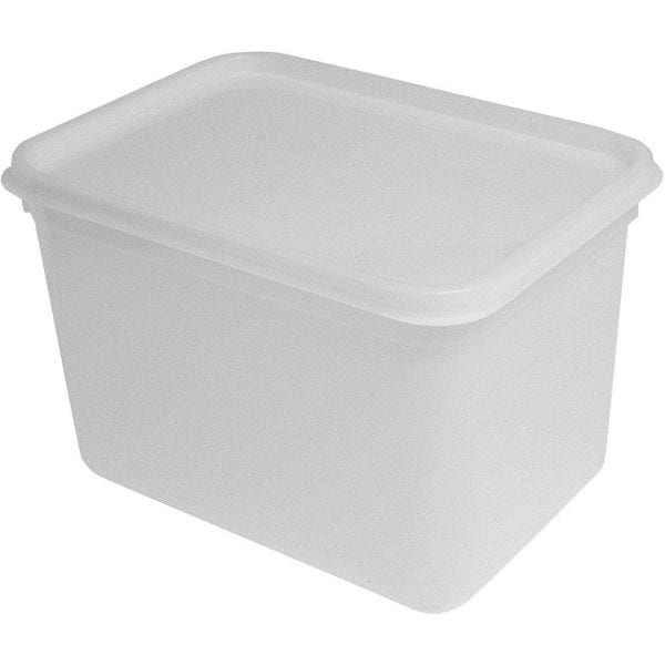Rect Plastic Food Container With Lid 4 LTR X 50