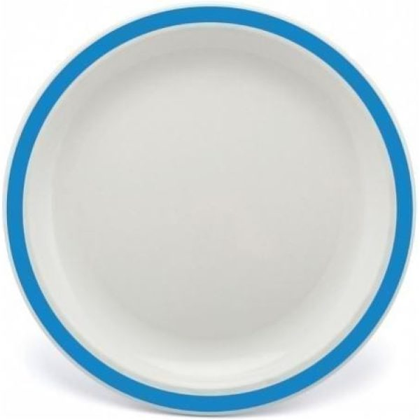 Harfield Polycarbonate Duo Plate 23cm Blue