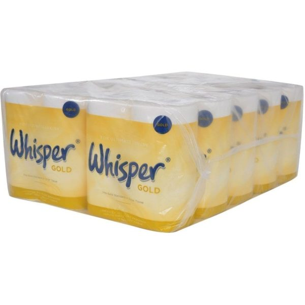 Whisper Gold Toilet Roll WHITE 3PLY X 40