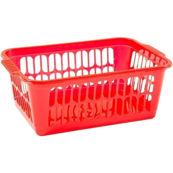 Work Place Single Handy Basket RED Small