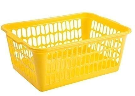 Work Place Single Small Handy Basket YELLOW 25 x 16 x 6CM
