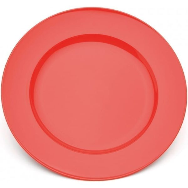 Harfield Polycarbonate Dinner Plate 24cm Red