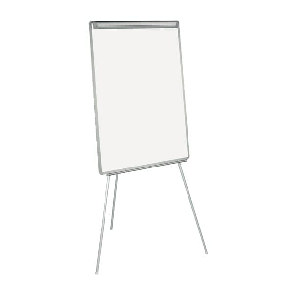 Bi-Office Retractable Flipchart Easel With Drywipe Surface And Pen Tray A1 DD