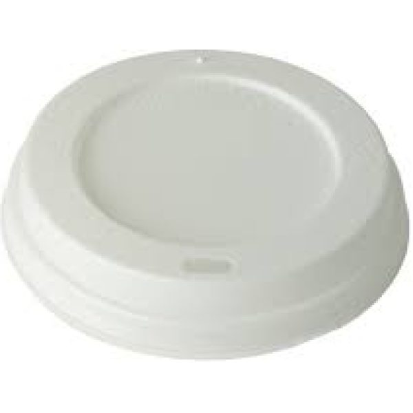 Plastic Sip Thru Dome Lids WHITE For 12OZ Cups X 1200