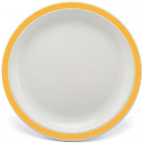 Harfield Polycarbonate Duo Plate 23cm yellow
