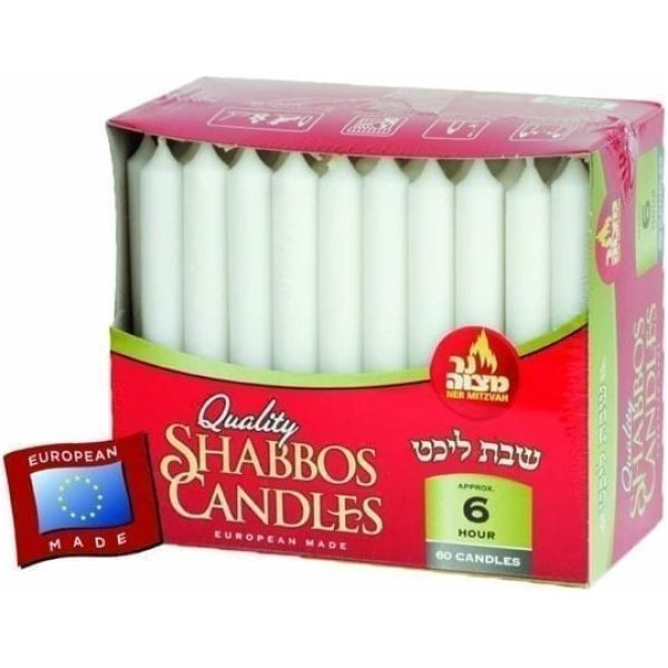 Shabbos Candles WHITE 6 HR