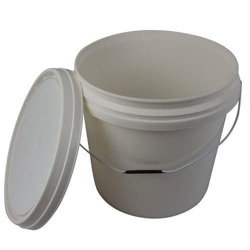 Pail with Handle and Lid 10KG WHITE