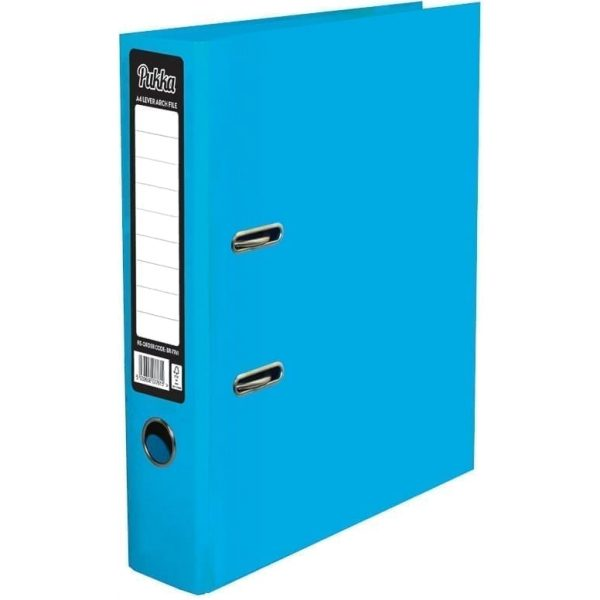Brights Lever Arch A4 Blue (10)