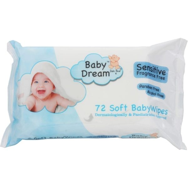 Baby Dream Wipes Sensitive 72's X 12