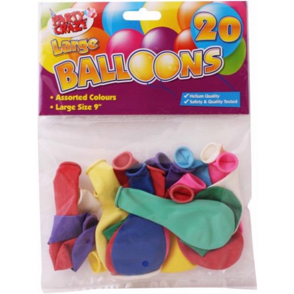 Balloons Round ASSORTED 20 X 12