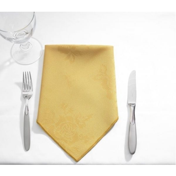 Table Cloth Rose Design Circular GOLD 62''