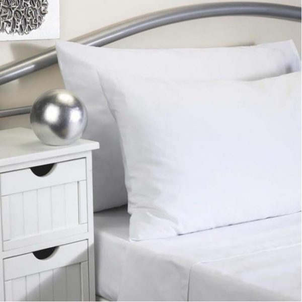 Flat Sheet WHITE Double bed
