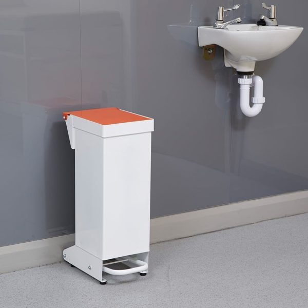 Enclosed Fire Retardant Pedal Bin 18LTR