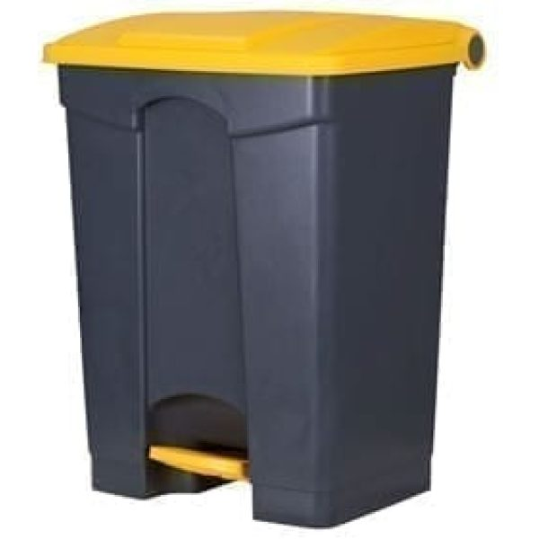 Waste Pedal Bin YELLOW and GREY 68LTR