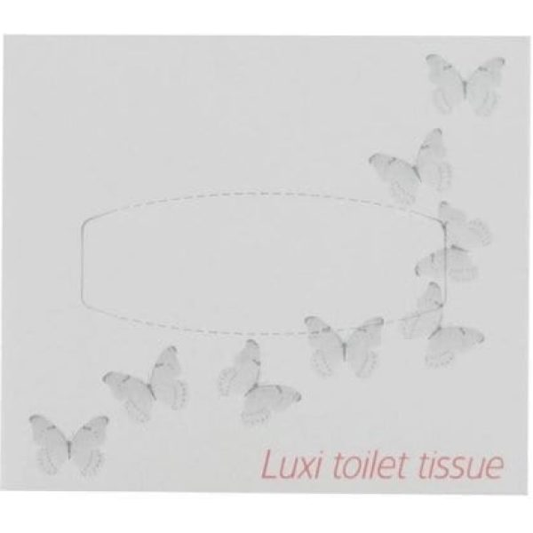 Whisper Luxi Flat Pack Tissue Wipes 72 X 76