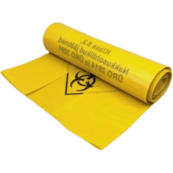 Yellow Clinical Waste bags 4x50 bags