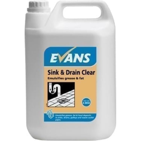 Evans Sink And Drain Clear 2.5LTR X 4
