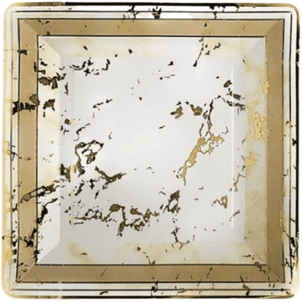 Paper Plates Marble Design GOLD 10'' 10 X 24 3138